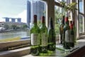 Expensive storage limits wine collecting in Singapore. Photo: AFP