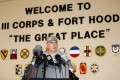 Lieutenant General Mark Milley addresses the media during a news conference at the entrance to Fort Hood Army Post in Texas. Photo: Reuters