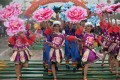 Dancers from the Zhuang ethnic group perform at the San Yue San festival in Wuming county, Guangxi Zhuang Autonomous Region, on Wednesday.  Photo: Xinhua
