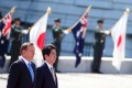 """Australian Prime Minister Tony Abbott with Japanese counterpart and """"best friend"""" Shinzo Abe in Tokyo. Photo: Bloomberg"""
