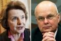 Dianne Feinstein and Ex-CIA boss Michael Hayden. Photos: AP