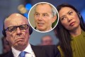 Rupert Murdoch (right) suggests he suspected an affair between Wendi Deng and ex-British prime minister Tony Blair (inset). Photos: Reuters Bloomberg