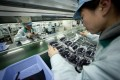 Electronics factory in Suzhou, a city hit by credit squeeze.