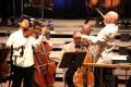 Violinist Zhu Dan plays under the baton of conductor Christoph Eschenbach.