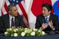 Barack Obama will meet Japan's Shinzo Abe this week. Photo: AFP