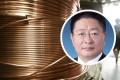 Mao Xiaobing (inset) built a career in the top copper producer Western Mining Company before becoming party chief of Xining. Photos: Bloomberg, Baidu.com
