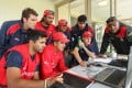 Members of the Hong Kong team at the ICC World Cup qualifiers held in New Zealand earlier this year. Some of the players will now be given contracts after Hong Kong gained ICC one-day international status. Photo: IDI/Getty Images
