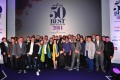 Head chefs from the world's top 50 restaurants pose for a picture at the World's 50 Best Restaurants Awards 2014, at the Guildhall in central London. Photo: AFP