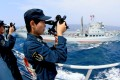 Crew on the Chinese destroyer Shenyang. Photo: Xinhua