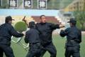 Policemen undergo counter-terrorism training in Shijiazhuang, Hebei province yesterday. Photo: AFP