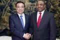 Premier Li Keqiang in Addis Ababa. Photo: Xinhua