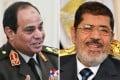 Abdel-Fattah el-Sisi (left) and Mohammed Mursi. Photos: EPA, AFP