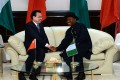 Premier Li Keqiang and Nigerian President Goodluck Jonathan. Li has pledged to assist Nigeria in its fight against Islamic militant group Boko Haram. Photo: AFP