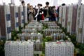 In the first quarter, mainland property sales fell 5.2 per cent year on year in value and 3.8 per cent in terms of volume. Photo: Reuters