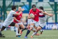 Hong Kong captain Nick Hewson leads from the front against South Korea in the Asian Five Nations: Photo: HKRFU