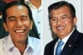 Joko Widodo (left) has boosted his presidential campaign by choosing veteran politician Jusaf Kalla (right) as his running mate. Photo: AFP