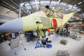 A Saab's Gripen fighter jet at the Saab Gripen factory in Linkoeping, Sweden. Sweden has ordered 60 of the planes and marketed them hard overseas. Photo: AFP