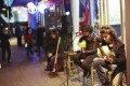 An acoustic jazz guitar duo perform at Penny Black. Photos: Jesse Warren