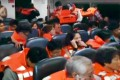 Passengers wear life vests on the ferry. Photo: SCMP Pictures
