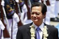 Vietnamese Prime Minister Nguyen Tan Dung at the welcome ceremony during his visit to Manila yesterday. Photo: AP