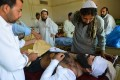 An injured tribesman arrives at a hospital from North Waziristan, following operations by the Pakistan army. Photo: AFP