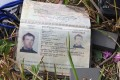 The passport of Italian journalist Andrea Ronchelli, who along with his Russian translator was killed in fighting between pro-Russian forces and Ukrainian government troops in eastern Ukraine. Photo: AFP