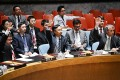 Wang Min (centre), China's deputy permanent representative to the United Nations, votes on a draft resolution regarding UN mission in South Sudan, at the UN headquarters in New York. Photo: Xinhua
