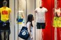 Retail sales fell 9.8 per cent in April. Photo: Nora Tam