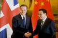 Premier Li Keqiang began his first state visit to Britain yesterday and is expected to discuss finance and trade matters with his counterpart, David Cameron, during his trip. Photo: EPA