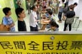 """Global Times sparked a public outcry with a strongly worded editorial earlier this week that described the turnout for Occupy Central's poll as """"no match"""" for China's total population of 1.3 billion. Photo: Dickson Lee"""