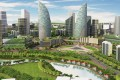 """An artist's impression shows Wave City in Ghaziabad, a """"smart city"""" in India. Photos: Corbis; SCMP; Ayona Datta"""