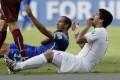 Luis Suarez was banned for four months for biting Chiellini. Photo: AP