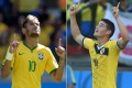 Stars of the show: Brazil's Neymar and Colombia's James Rodriguez clash in a quarter-final in Fortaleza on Friday. Photo: AFP