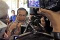 Presidential candidate Joko Widodo faces the media. Photo: AP
