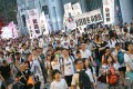 Protesters take to the streets on July 1. Photo: David Wong