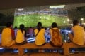 Fans watching the World Cup in Nanjing. Photo: Reuters