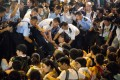 Police is accused of heavy-handed treatment of protesters arrested after July 1 march. Photo: Bloomberg