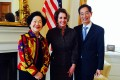 Anson Chan (left) and Martin Lee meet US House Democratic Leader Nancy Pelosi to discuss political reform in April. Photo: SCMP Pictures