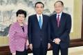 Margaret Chan meets Premier Li Keqiang (centre) and World Bank President Jim Yong Kim in Beijing. Photo: Xinhua