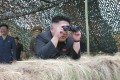 Kim Jong-un plays his part in the exercise. Photo: Reuters