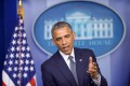 U.S. President Barack Obama speaks on the situation in Ukraine at the briefing room of the White House. Photo: Xinhua