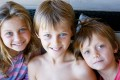 Evie, Mo and Otis Maslin who died in the flight MH17 disaster over Ukraine. Their grandfather was also killed. Photo: EPA