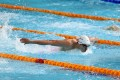 Dan Wallace on his way to gold in the men's 400M individual medley final in Glasgow. Photo: Xinhua