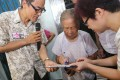 Members of the Alliance for Peace and Democracy collect signatures for their anti-Occupy Central signature campaign in Tai Po. Photo: David Wong