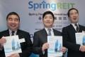 Spring Real Estate (left to right) executive director Don Lau Jin-tin; non-executive chairman Toshihiro Toyoshima and executive director Nobumasa Saeki.