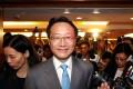 Ambrose Lam announces his resignation as Law Society president on Tuesday. Photo: Sam Tsang