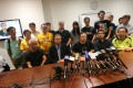 Pan-democrats, Occupy Central leaders and students activists meet the press in Hong Kong on August 31, 2014. Photo: SCMP/David Wong