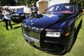 """A """"Year of the horse"""" special edition Rolls-Royce is displayed at the Vancouver car show at the Botanical Garden in Vancouver. Photo: Xinhua"""