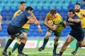 Empty seats greeted the Wallabies and Argentinians on the Gold Coast on Saturday. Photo: AP
