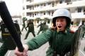 Armed policemen train in Nanjing. Photo: Reuters
